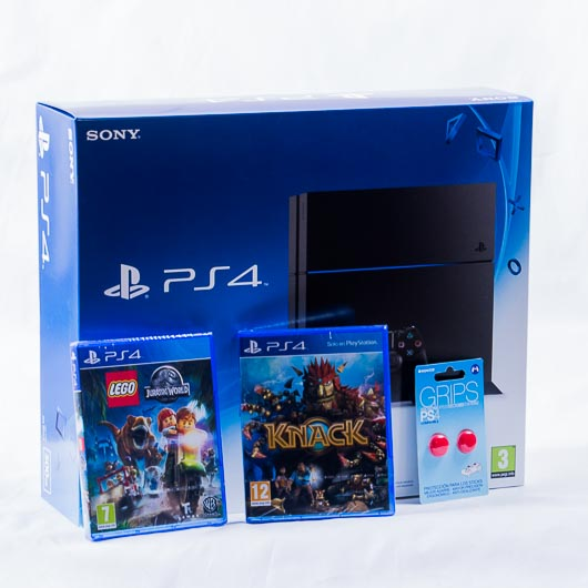 CONSOLA PS4 500GB  + LEGO: Jurassic World + Knack