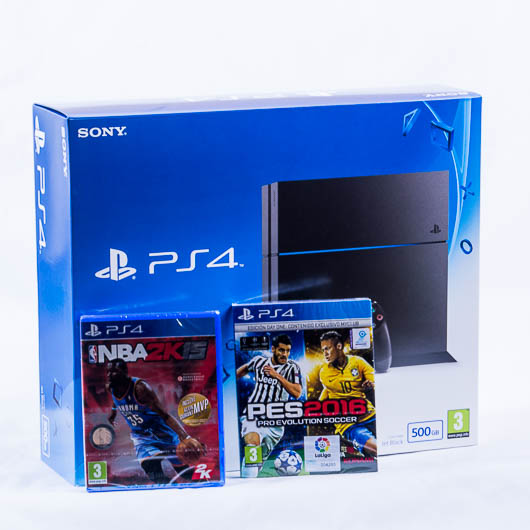 CONSOLA PS4 500GB  + NBA 2K15+ PES16 DAY ONE EDIT.
