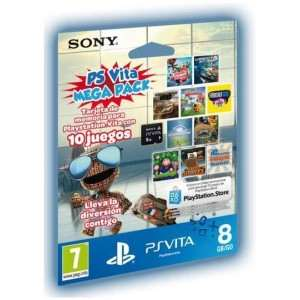Memory Card 8GB Sony PS Vita Mega Pack (10 Juegos)